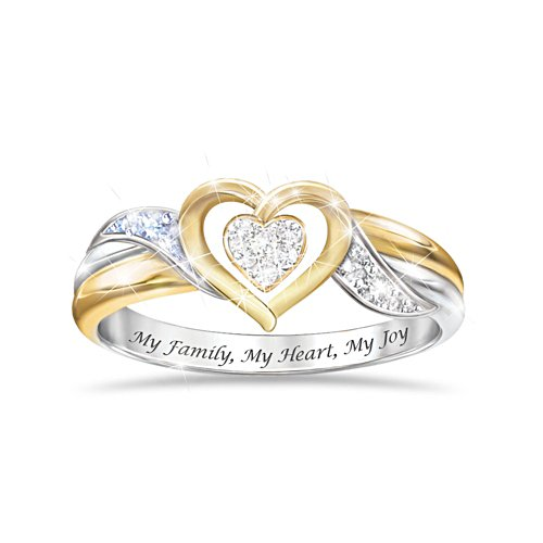'My Family, My Heart, My Joy' Diamond Ladies' Ring