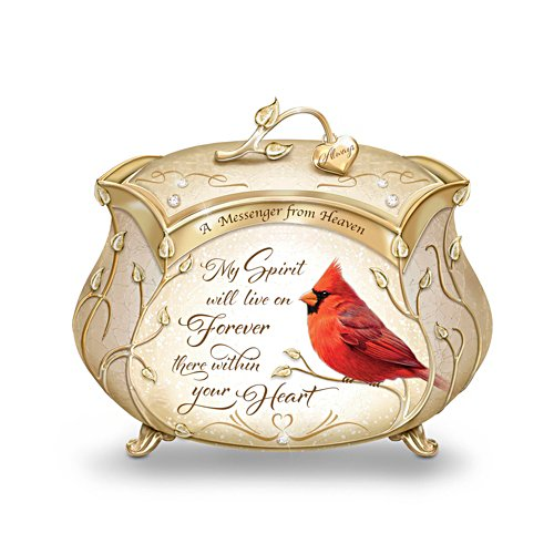 'A Messenger From Heaven' Cardinal Heirloom Porcelain® Music Box