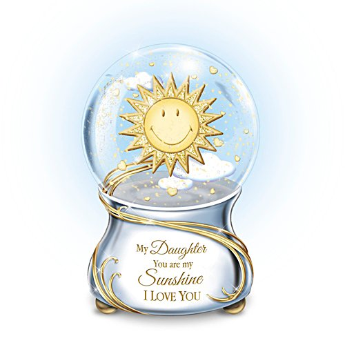 'My Daughter, You Are My Sunshine' Musical Glitter Globe