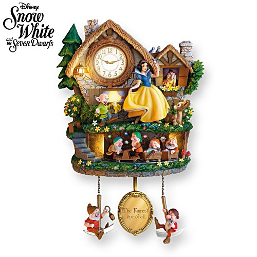 Disney Snow White 'Hidden Treasure' Cuckoo Clock
