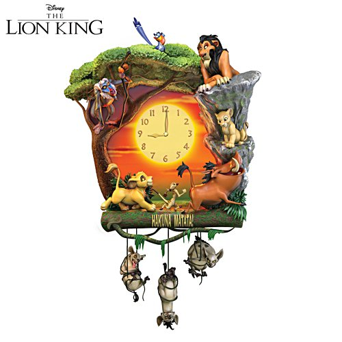 "Disney The Lion King ""Hakuna Matata"" Wanduhr"