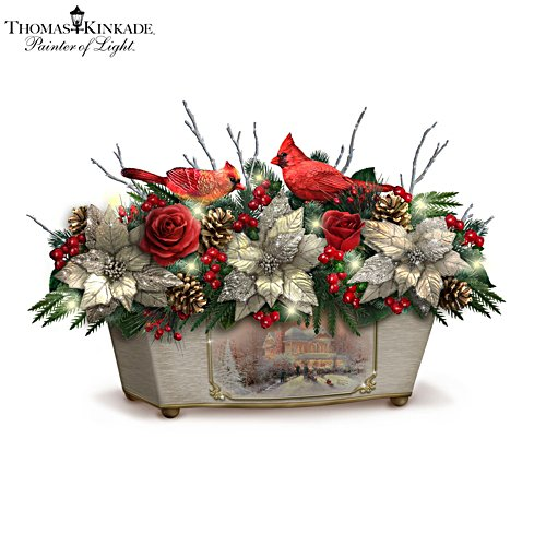 Thomas Kinkade 'Treasures Of The Season' Table Centrepiece