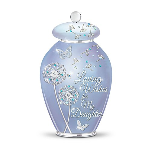 'Loving Wishes For My Daughter' Heirloom Porcelain® Musical Jar
