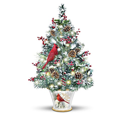 'My Spirit Will Live On' Cardinal Tabletop Tree