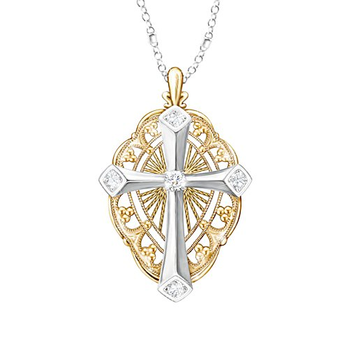 'Everlasting Light' Diamond Cross Ladies' Pendant