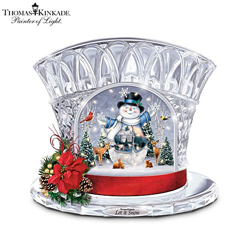 Thomas Kinkade 'Let It Snow' Illuminated Snowman Sculpture