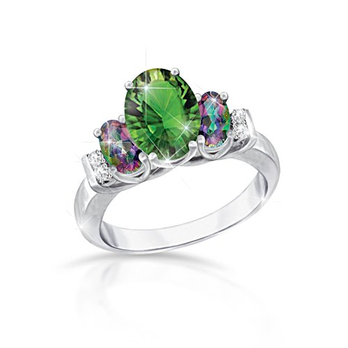 'Mystic Beauty' Helenite And Mystic Topaz Ladies' Ring
