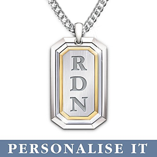 'Words Of Wisdom' Grandson Dog Tag Necklace