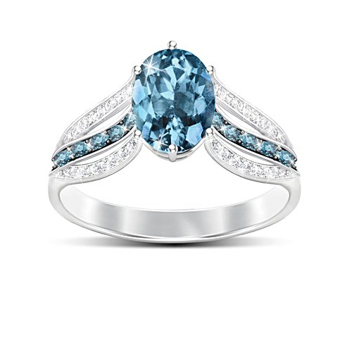 'Twilight Luster' London Blue Topaz Ladies' Ring