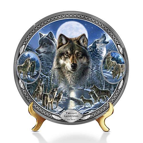 Wächter der Dämmerung – Sammelteller mit Wolfsmotiv