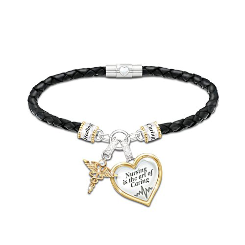 'Nursing Is The Art Of Caring' Ladies' Bracelet
