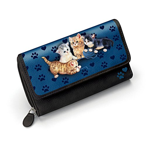 Jürgen Scholz 'Kitty-Kat Cute' Ladies' Tri-Fold Wallet