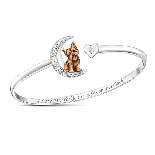 'I Love My Yorkie To The Moon And Back' Bracelet