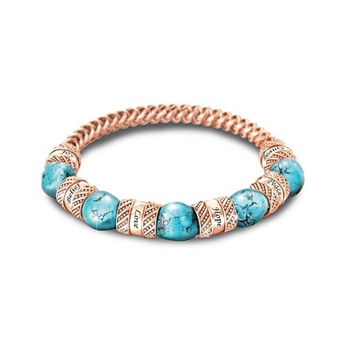 'Touch Of Heaven' Turquoise And Copper Bracelet