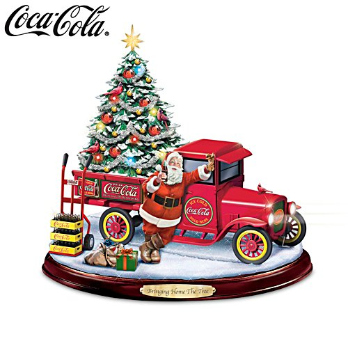 'Bringing Home The Tree' Lit Musical COCA-COLA® Sculpture