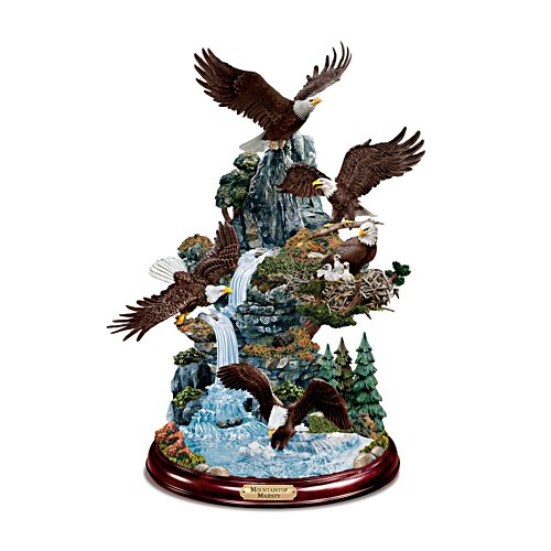 'Mountaintop Majesty' Eagle Sculpture
