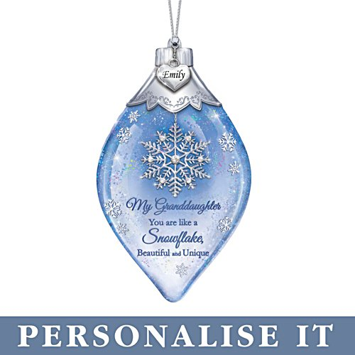 'Special As A Snowflake' Granddaughter Personalised Ornament