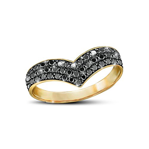 Royale Eleganz – Goldplattierter Sterling- Silber-Ring