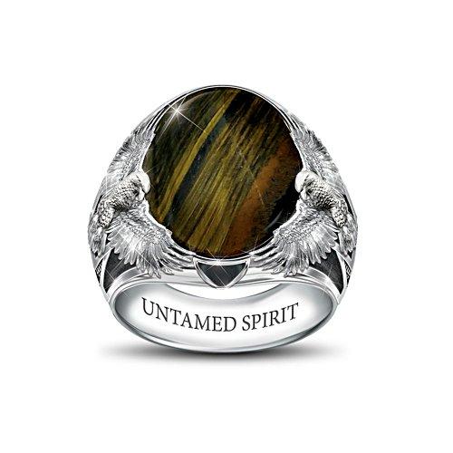 'Untamed Spirit' Hawk's Eye Men's Ring