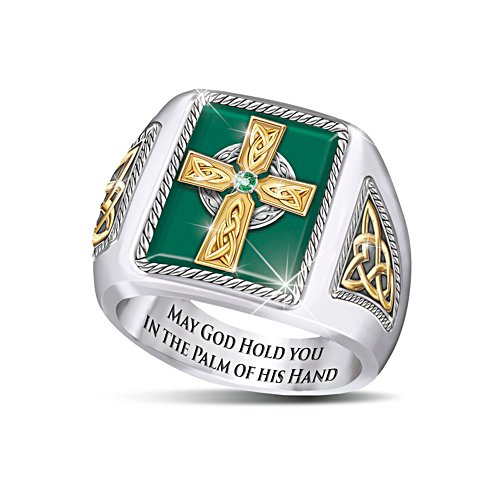 'Celtic Blessings' Men's Ring