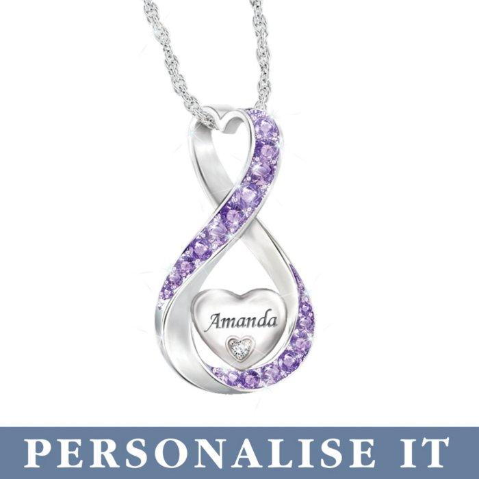 'Always Loved' Granddaughter Birthstone Personalised Pendant