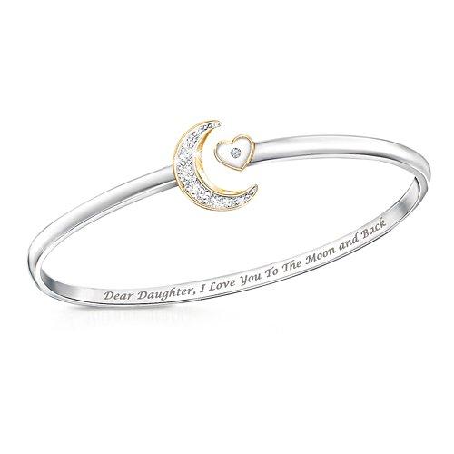'I Love You To The Moon And Back' Diamond Bracelet