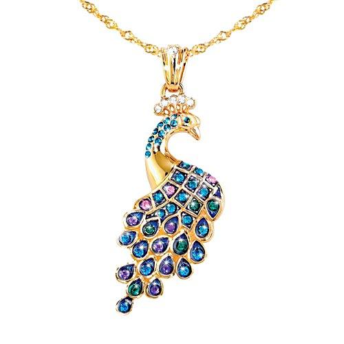 'Majestic Wonder' Peacock Swarovski® Crystal Pendant