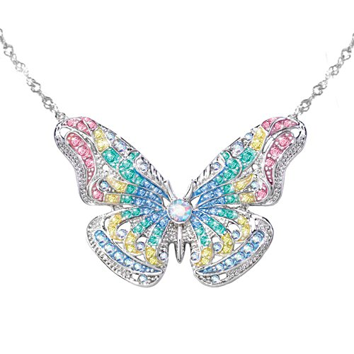 'Garden Brilliance' Butterfly Swarovski® Crystal Necklace