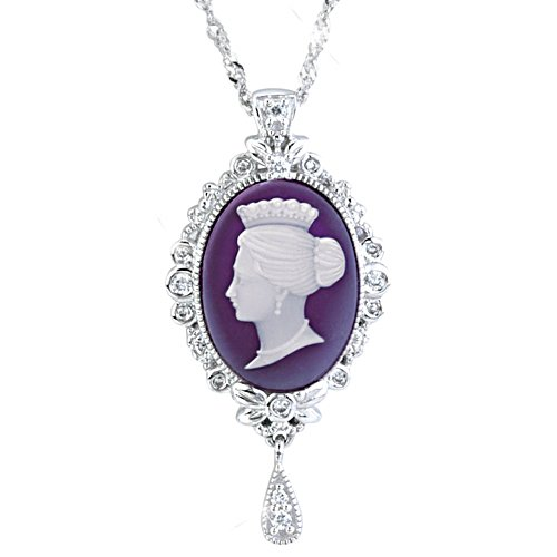 Cameo Of A Victorian Queen' Diamonesk® Ladies' Pendant