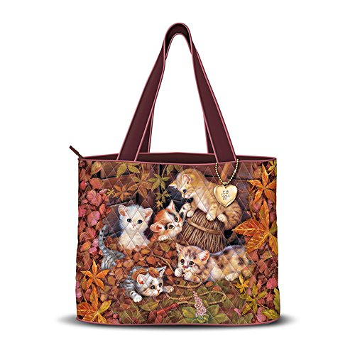 Jürgen Scholz 'Fall Frolic' Cat Quilted Tote