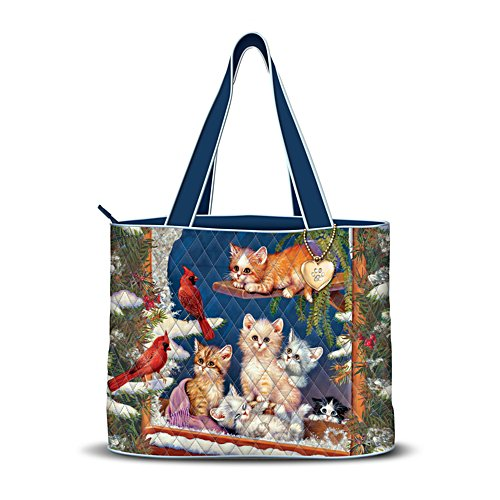 Jürgen Scholz 'Winter Wonder' Cat Quilted Tote
