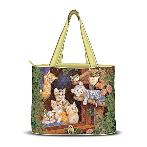 Jürgen Scholz 'Spring Surprise' Cat Quilted Tote