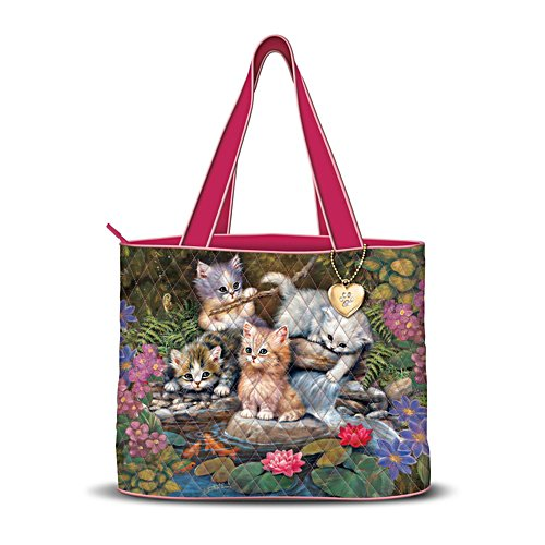 Jürgen Scholz 'Summer Splash' Cat Quilted Tote