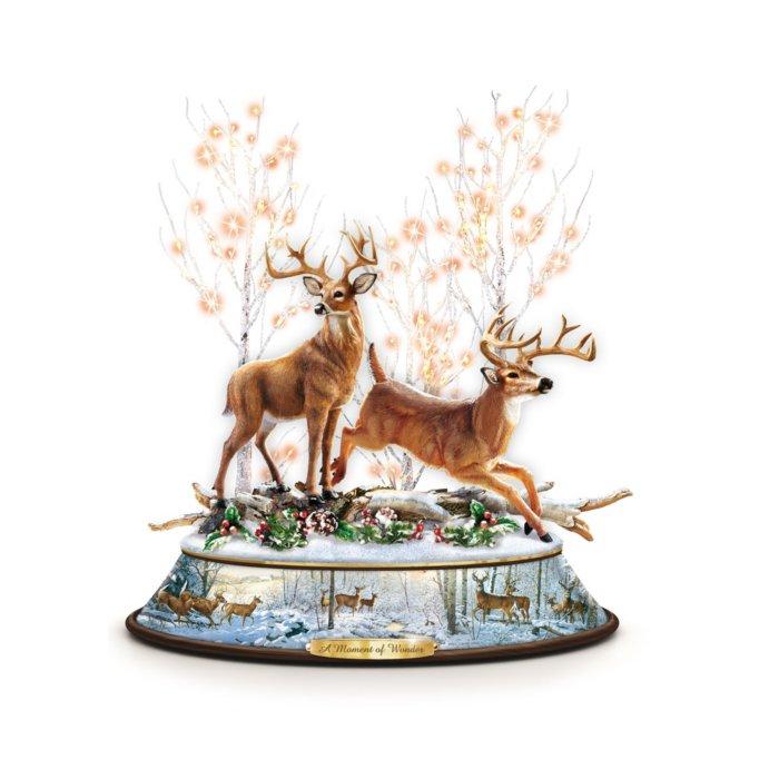 A Moment Of Wonder' Illuminated Musical Deer Centrepiece