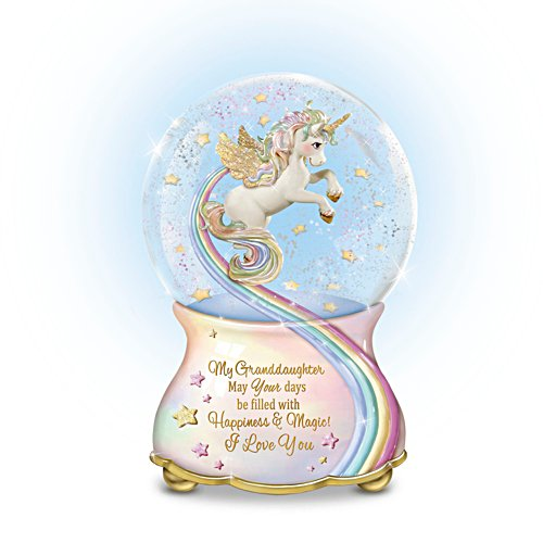 My Granddaughter, You Are Magical' Musical Glitter Globe