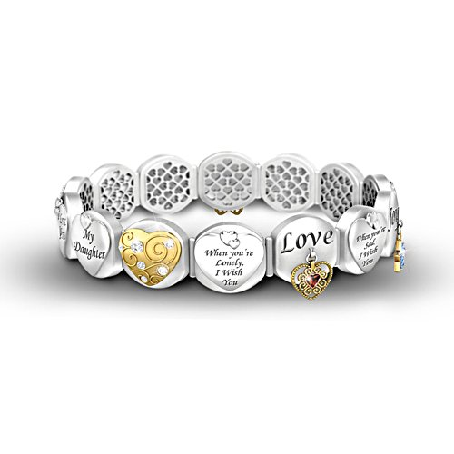 'Loving Wishes For My Daughter' Bracelet