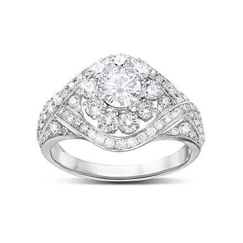 Royal American Rose' Meghan Markle Diamonesk® Ring