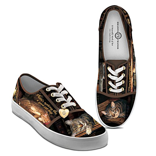 Charles Wysocki 'Cat Nap' Ladies' Canvas Shoes