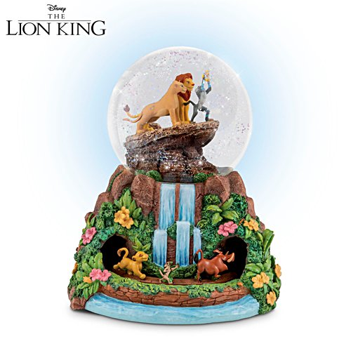Disney The Lion King Rotating Musical Glitter Globe