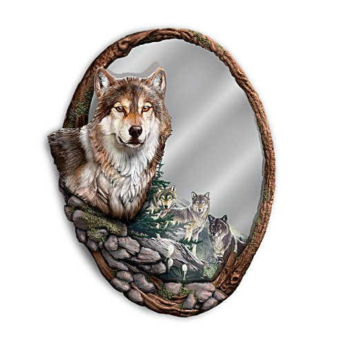 Al Agnew 'Reflections Of Nature' Wolves Wall Mirror