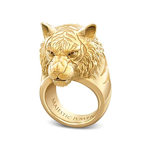 'Majestic Power' Tiger Men's Ring