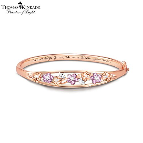 Thomas Kinkade 'Garden Of Hope' Ladies' Copper Bracelet
