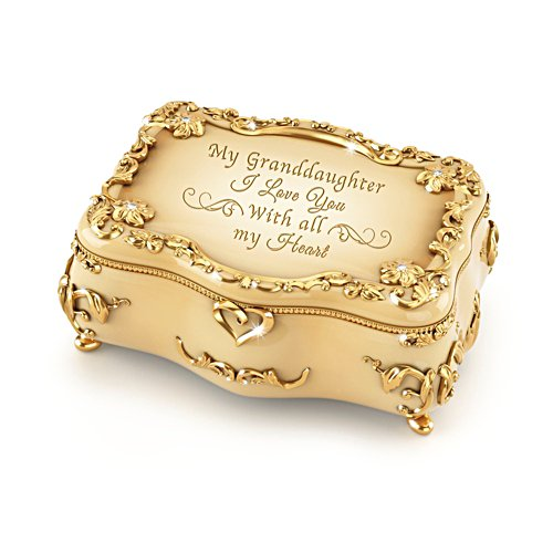 Granddaughter, I Love You' Gold-Plated Music Box