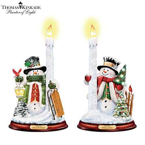 Thomas Kinkade 'All Is Bright' Candleholder Set