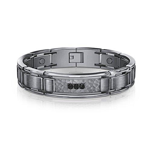 'Strength, Courage, Wisdom' Men's Sapphire Healing Bracelet