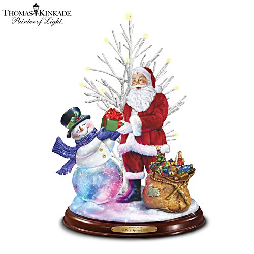 Thomas Kinkade 'A Very Special Gift' Illuminated Musical Sculpture