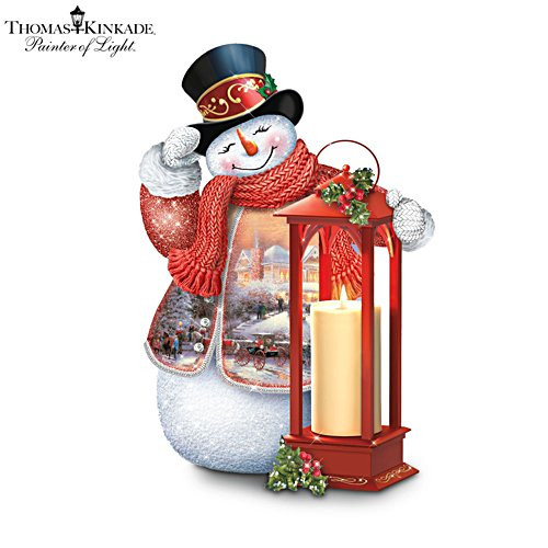 'Winter Welcome' Tabletop Snowman Lantern