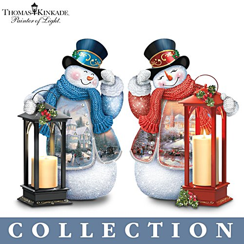 Warm Wishes' Tabletop Snowman Lantern Collection