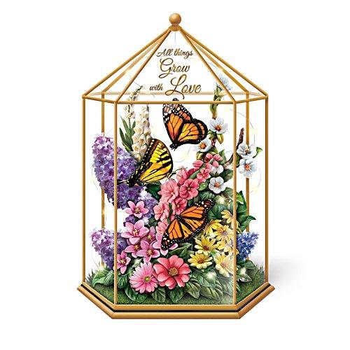 'Delicate Treasures' Illuminated Glass Garden Gazebo