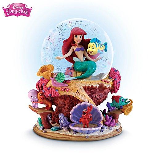 Arielle & Fabius – Offiziell lizenzierte Disney-Schneekugel-Skulptur